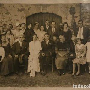 Foto antigua familiar costumbrista 12x17 cm