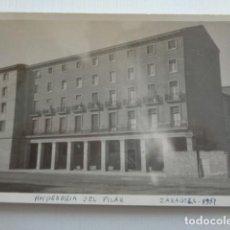 Fotografía antigua: ZARAGOZA. HOSPEDERÍA DEL PILAR. 1951.. Lote 151570034