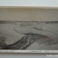 Fotografía antigua: ZARAGOZA. RÍO GÁLLEGO. IMAGEN TOMADA EN 1951. Lote 151570742