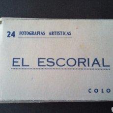 Fotografía antigua: CTC - ANTIGUO SOUVENIR 24 FOTOGRAFIAS ARTISTICAS COLOREADAS EL ESCORIAL - HELIOTIPIA - DESPLEGABLE. Lote 151698480