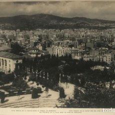 Fotografía antigua: BARCELONA. VISTA PARCIAL DE LA CIUDAD DESDE EL PARQUE DE MONTJUICH 27,9X18,,2 CM. Lote 151910406
