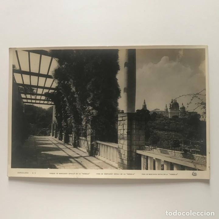 Fotografía antigua: Barcelona. Parque de Montjuich: detalle de la Pérgola 27,9x18,,2 cm - Foto 2 - 151910442
