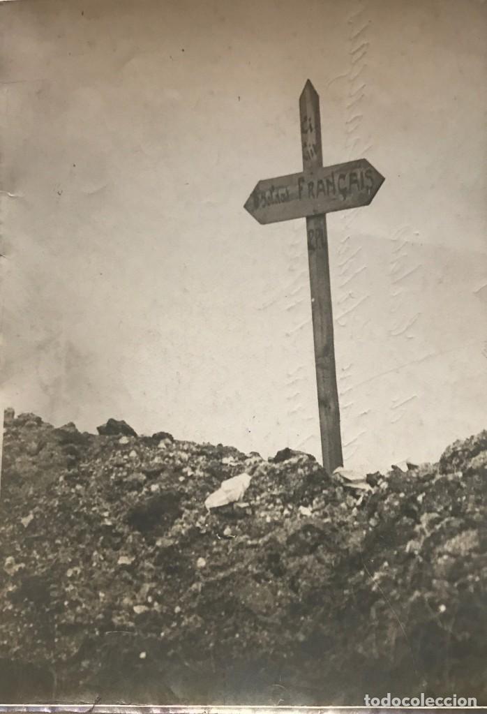 PAS DE CALAIS. TOMBE D'UN SOLDAT FRANÇAIS. FOTOGRAFÍA 12,9X17,8 CM (Fotografía - Artística)