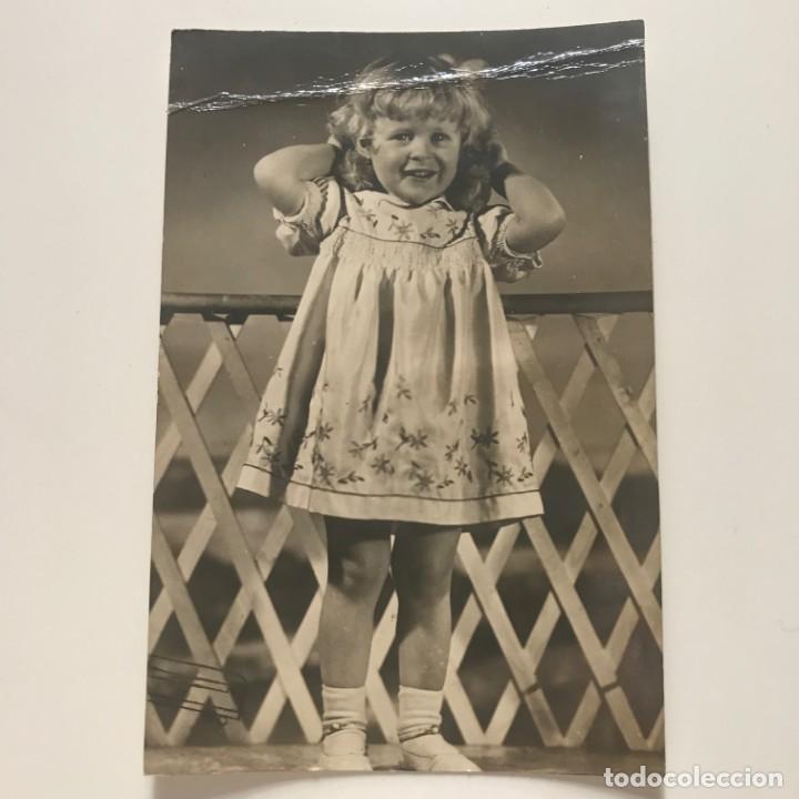 Fotografía antigua: Foto artística niña 12,9x19,5 cm - Foto 2 - 151993850