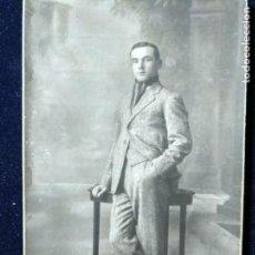 Fotografía antigua: FOTOGRAFÍA ESTUDIO VANDEL - MADRID - JOVEN MUCHACHO FECHADA 1922 - DEDICADA. Lote 152060806