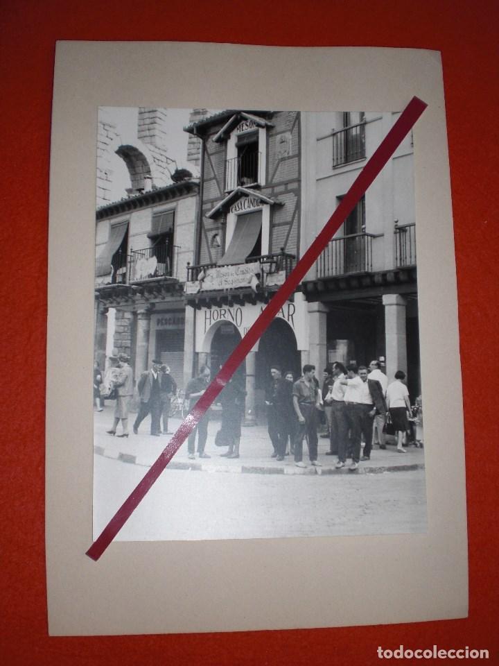 Fotografía antigua: SEGOVIA CASA CÁNDIDO GRAN FOTOGRAFÍA DE ÉPOCA CON ACUEDUCTO - Foto 3 - 152215938