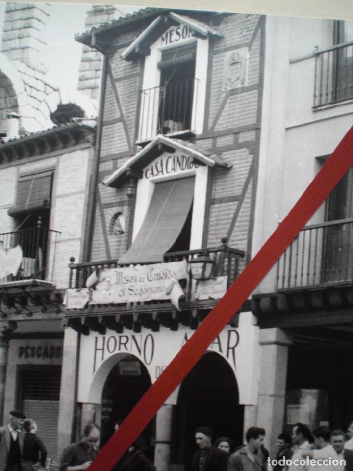 Fotografía antigua: SEGOVIA CASA CÁNDIDO GRAN FOTOGRAFÍA DE ÉPOCA CON ACUEDUCTO - Foto 4 - 152215938