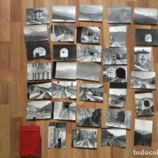 Fotografía antigua: LOTE FOTOGRAFIAS ASTURIAS SUBIDA ALTO DE PAJARES, TREN FERROCARRIL ESTACIÓN BUSGONDO. ELECTROTREN. Lote 152323654