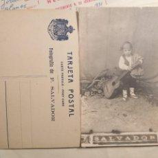 Fotografía antigua: FOTOGRAFIA F.SALVADOR NIÑO BATURRO - FOTO HACIA 1912. Lote 152566290