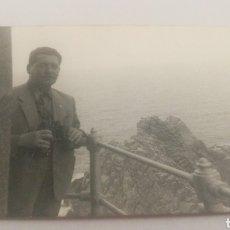 Fotografía antigua: AÑOS 50 FOTO PASARELA FARO CABO VILAN CAMARIÑAS COSTA DA MORTE CORUÑA GALICIA VILLANO VILANO. Lote 152596244