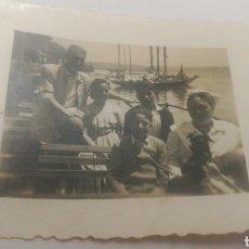 Fotografía antigua: FOTO FAMILIA EN BARCO CORUÑA GALICIA. Lote 152596329
