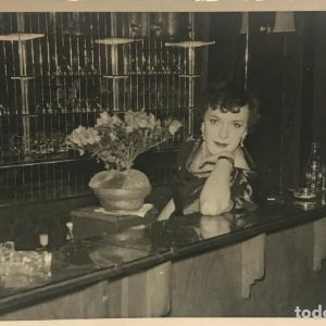 1956 Foto artista 8,7x13,8 cm