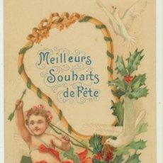 Fotografía antigua: POSTAL FRANCESA. MEILLEURS SOUHAITS DE FÊTE (LOS MEJORES DESEOS EN LAS FIESTAS) CIRCA 1910. Lote 154003824