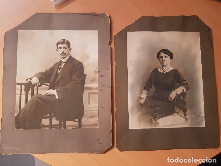ANTIGUAS FOTOGRAFIAS RETRATO GRAN TAMAÑO RETOCADA CARBONCILLO MOLINO CALLE CARRETAS MADRID (Fotografía - Artística)