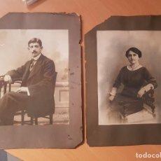 Fotografía antigua: ANTIGUAS FOTOGRAFIAS RETRATO GRAN TAMAÑO RETOCADA CARBONCILLO MOLINO CALLE CARRETAS MADRID. Lote 155333554