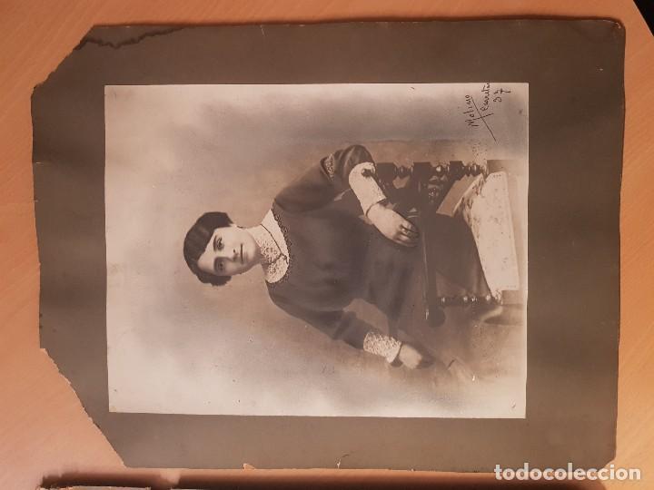 Fotografía antigua: ANTIGUAS FOTOGRAFIAS RETRATO GRAN TAMAÑO RETOCADA CARBONCILLO MOLINO CALLE CARRETAS MADRID - Foto 3 - 155333554