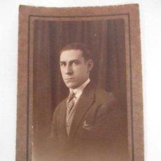 Fotografía antigua: ANTIGUA FOTOGRAFÍA - SEÑOR - FOTOGRAFÍA LUX, GERONA (GIRONA) . Lote 155720382