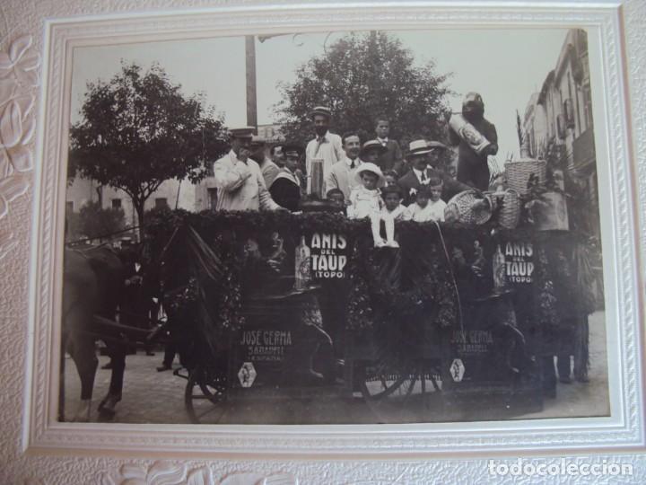 Fotografía antigua: (FOT-190323)FOTOGRAFIA GRAN TAMAÑO CARROZA ANIS TAUP (TOPO) - JOSE GERMA (SABADELL) - Foto 2 - 156520790