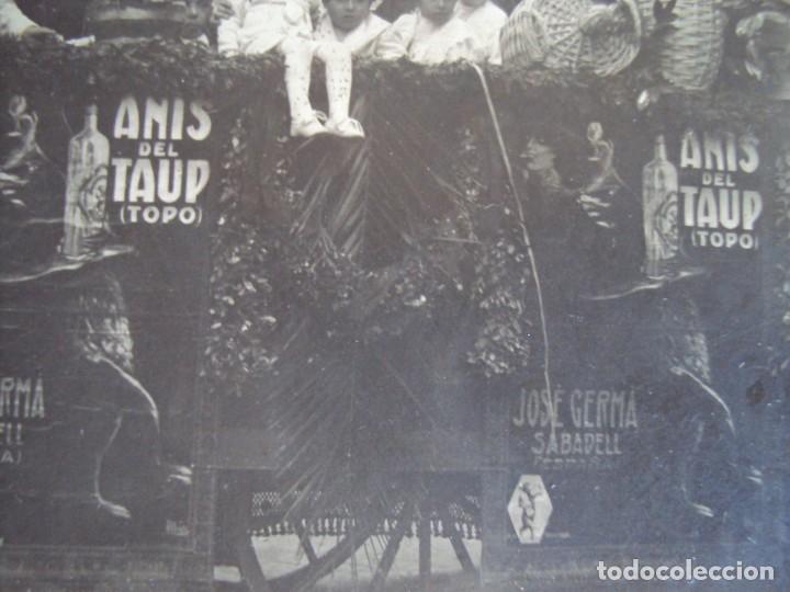 Fotografía antigua: (FOT-190323)FOTOGRAFIA GRAN TAMAÑO CARROZA ANIS TAUP (TOPO) - JOSE GERMA (SABADELL) - Foto 5 - 156520790