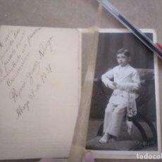 Fotografía antigua: FOTO ANTIGUA PRIMERA COMUNIÓN NIÑO SEVILLA 1931 CASTELLANO. Lote 156596810