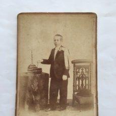 FOTO ALBUMINA. NIÑO 1ª COMUNIÓN. FOTOG. V. PLA. VALENCIA. H. 1900?