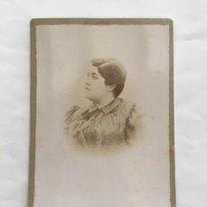 FOTO ALBUMINA. ELISA MARTÍNEZ DE LEON. FOTOG. HISPANO PARISIEN. VALENCIA. H. 1900.
