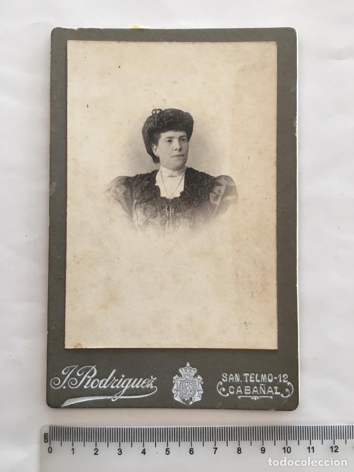 FOTO. SEÑORA. FOTOG. J. RODRÍGUEZ. CABAÑAL (VALENCIA). H. 1900. (Fotografía - Artística)
