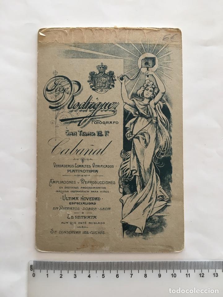 Fotografía antigua: FOTO. SEÑORA. FOTOG. J. RODRÍGUEZ. CABAÑAL (VALENCIA). H. 1900. - Foto 2 - 156813894