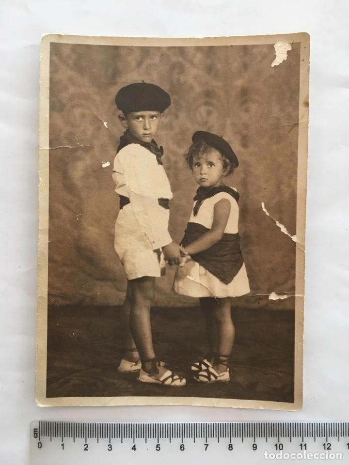 FOTO. NIÑOS VASCOS. FOTÓGRAFO ANÓNIMO. H. 1950? (Fotografía - Artística)