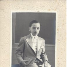 Fotografía antigua: FOTO COMUNION NIÑO. AÑOS 50. Lote 156896470