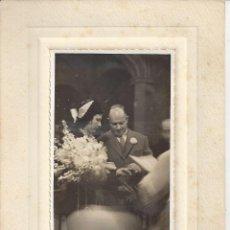 Fotografía antigua: FOTO BODA AÑOS 50. FOTO M. COLLINA. Lote 156897138