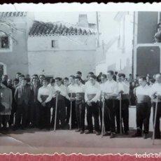 Fotografía antigua: ANTIGUA FOTOGRAFIA. OSSA DE MONTIEL, ALBACETE. BAILE DEL GARROTE. Lote 172826098