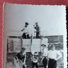 Fotografía antigua: ANTIGUA FOTOGRAFIA. OSSA DE MONTIEL, ALBACETE. TAREAS DEL CAMPO. Lote 158214402