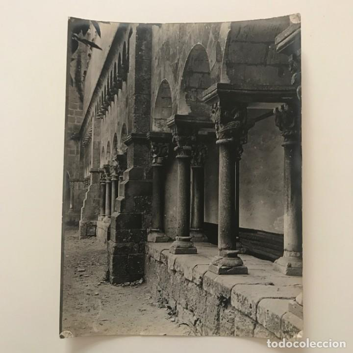 Fotografía antigua: Sant Cugat del Vallés. Claustro 18x24 cm - Foto 2 - 158236686