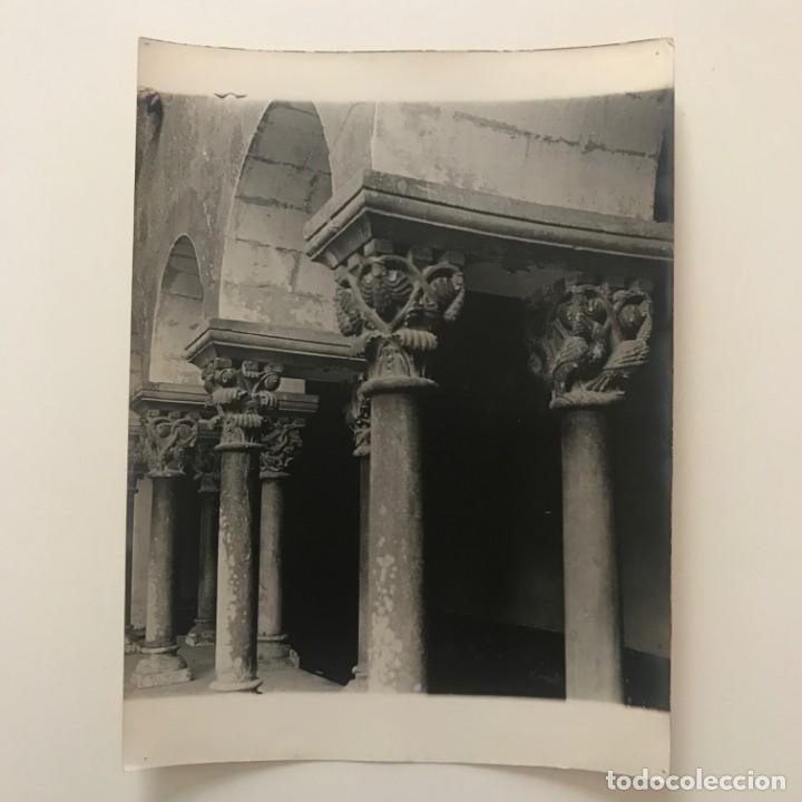 Fotografía antigua: Sant Cugat del Vallés. Claustro 18x24 cm - Foto 2 - 158236970