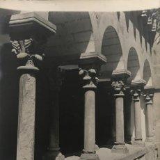 Fotografía antigua: SANT CUGAT DEL VALLÉS. CLAUSTRO 18X24 CM. Lote 158237038