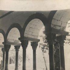 Fotografía antigua: SANT CUGAT DEL VALLÉS. CLAUSTRO 18X24 CM. Lote 158237338