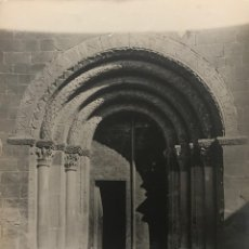 Fotografía antigua: SANTA EUGÈNIA DE BERGA. IGLESIA. PUERTA CONJUNTO 18X24 CM. Lote 158237622
