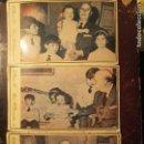 Fotografía antigua: FRANCO EN FAMILIA 3 FOTOS OTERO MADRID CON CUÑO AÑADIDO DE FALANGE ESPAÑA. Lote 158239878