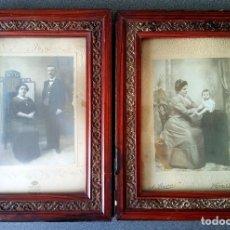 Fotografía antigua: LOTE FOTOGRAFÍAS PRINCIPIOS SIGLO XX ENMARCADAS. Lote 158554886