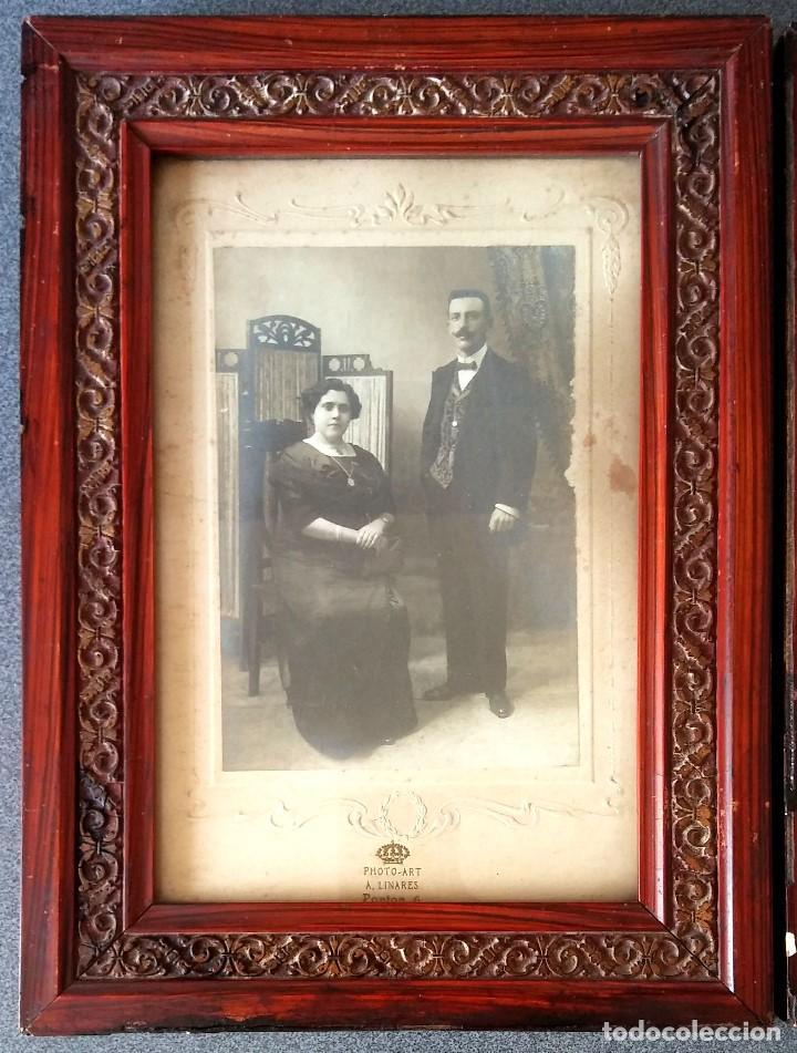 Fotografía antigua: Lote fotografías principios siglo XX enmarcadas - Foto 2 - 158554886