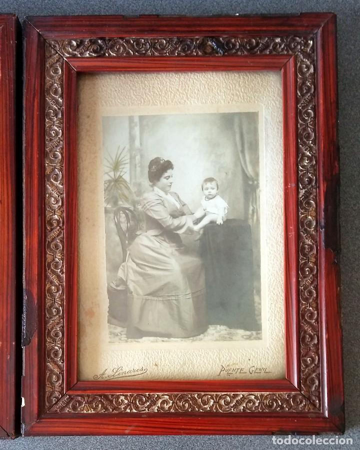 Fotografía antigua: Lote fotografías principios siglo XX enmarcadas - Foto 3 - 158554886