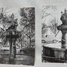 Fotografía antigua: LOTE DE DOS FOTOGRAFÍA ORIGINAL FUENTE DE LA FLORA BURGOS AÑOS 70. Lote 158703838