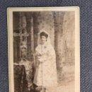 Fotografía antigua: NIÑOS. FOTOGRAFÍA ANTIGUA. RECUERDO PRIMERA COMUNION. AUTOR: J. DERREY VALENCIA (H.1930?). Lote 159280788