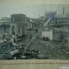 Fotografía antigua: BARCELONA ÁLBUM FOTOGRÁFICO CONSTRUCCIÓN E INAUGURACIÓN PASEO MARÍTIMO CON CARMEN AMAYA. Lote 159782538