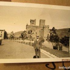 Fotografía antigua: ALTO MANDO DE ACADEMIA MILITAR ONESIMO REDONDO EN CASTILLO SAN JAVIER NAVARRA. Lote 160672994