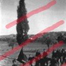 Fotografía antigua: FABARA ZARAGOZA. GRUPO DE FALANGISTAS AÑO 1954 ANTIGUO NEGATIVO ORIGINAL 9 X 6 CM. Lote 160931338