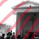 Fotografía antigua: FABARA ZARAGOZA. MONUMENTO A LOS CAIDOS1954 ANTIGUO NEGATIVO ORIGINAL 9 X 6 CM. Lote 160948954