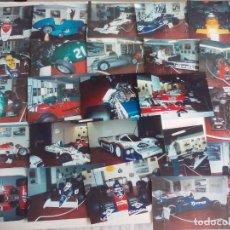Fotografía antigua: LOTE DE 24 FOTOGRAFÍAS DE COCHES, AUTOMOVILISMO, FORMULA 1. F1. Lote 161187146