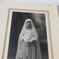 Fotografía antigua: FOTO RECUERDO 1ª COMUNION.-FOTOGRAFO WINOCIO- LEON-(17X11FOTO) AÑO 1929. Lote 162169542